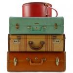 4 kleine koffertjes