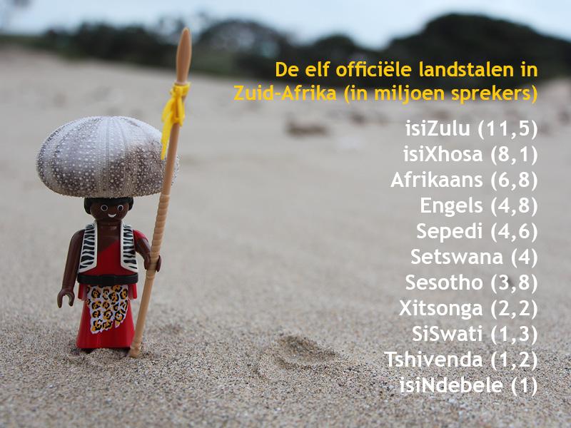 De elf officiële talen van Zuid-Afrika