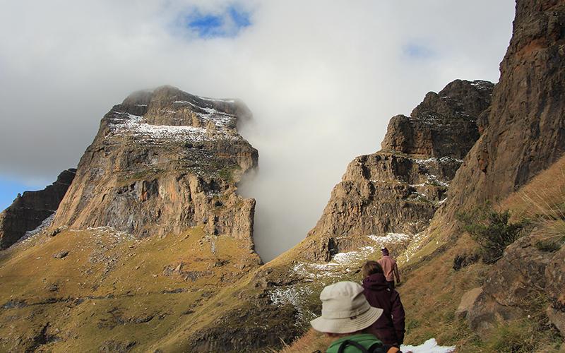 Het minder serieuze werk - Met Wouter, Femke en Marianne in de Drakensbergen
