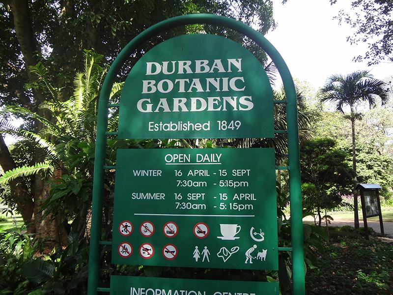 De school in Swaziland is niet alleen. Ook de botanische tuin van Durban verzwijgt de lente en de herfst (terwijl die hier toch echt wel zijn hoor.) [Getrokken in Durban en Swaziland]