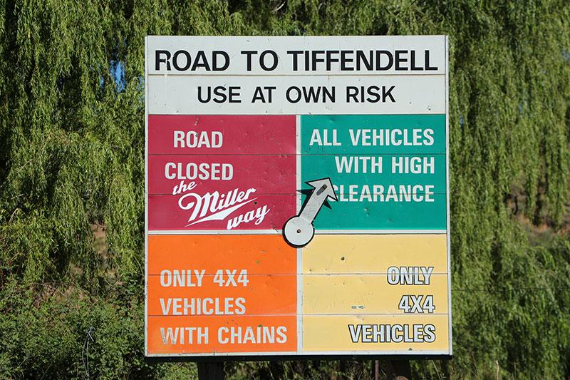 Het bord op de weg stond toch al op de meest haalbare optie.